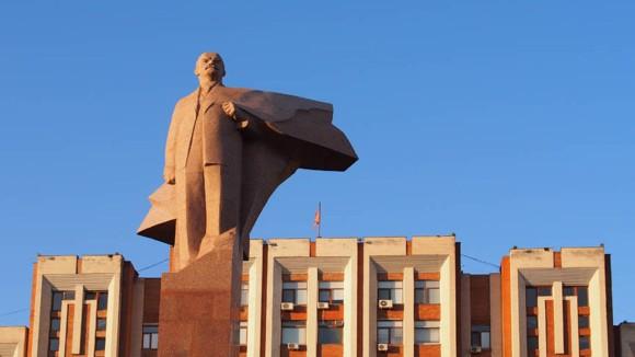 Lenin vor dem Regierungsgebäude, Tiraspol