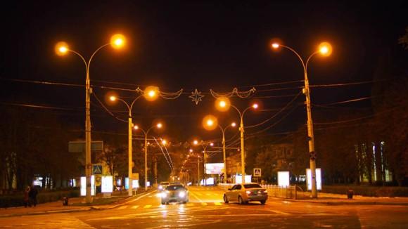 Tiraspol bei Nacht