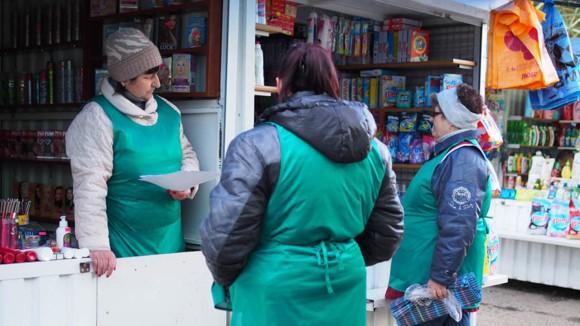 Verkäuferinnen, Markt Tiraspol