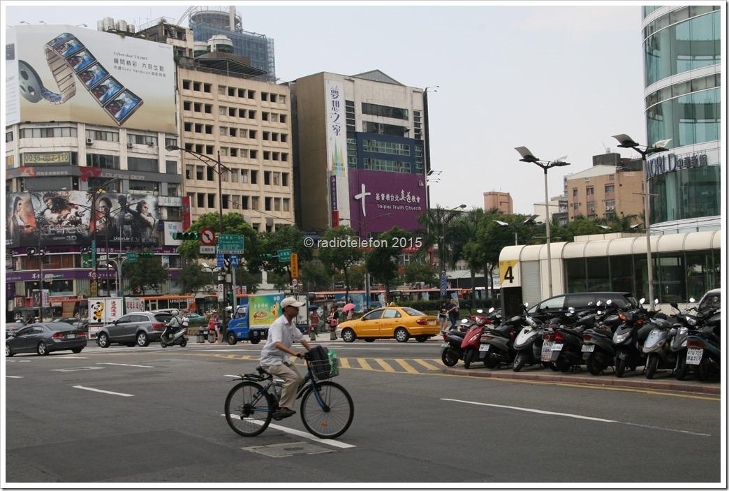Fahrradfahrer, Taipei, Taiwan
