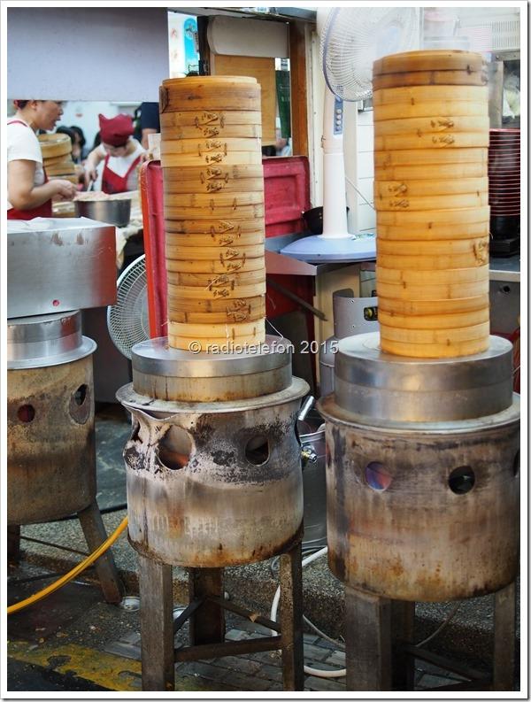 Bambuskörbe für gedämpfte Teigtaschen, Hualien, Taiwan