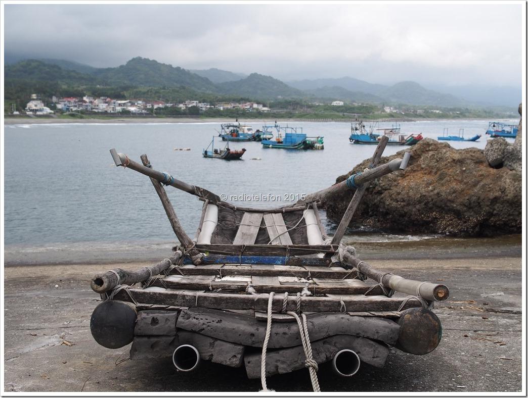 Aborigines Fischerboot, Taitung County, Taiwan