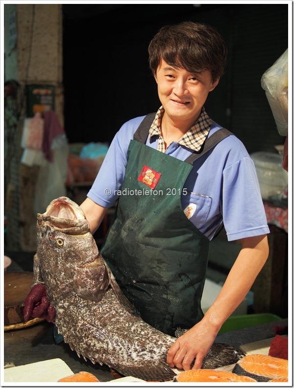 Fischhändler, Markt, Tainan, Taiwan